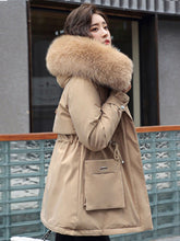 Load image into Gallery viewer, ,2020 Winter Jacket Women Big Fur Collar Women Bubble Jacket  Plus Size Warm Cotton Clothing Coat  Elegant  Winter Women Parkas,guiro,FreeDropship.