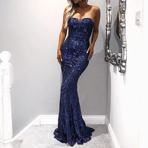 Clothing,SEXY TUBE TOP STRAPLESS SEQUINS ELEGANT EVENING DRESS,guiro,Zeinab Fashion.