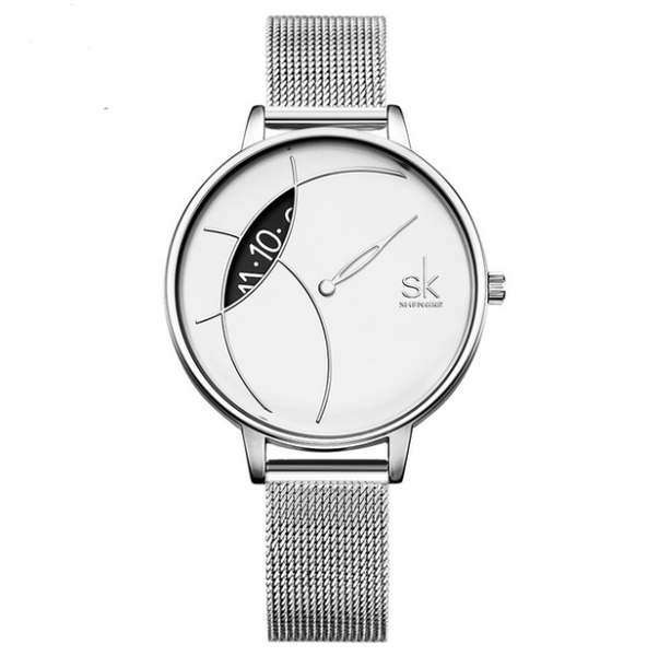 Simple waterproof ladies watch