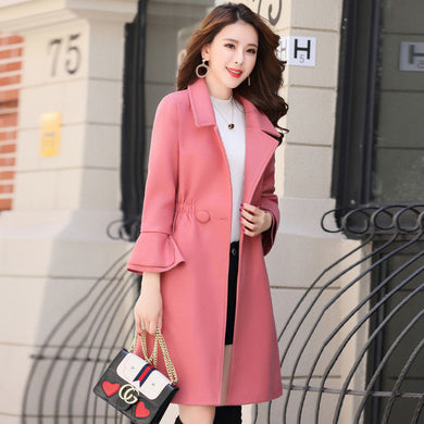 Fashion split sleeves long woolen coat coat