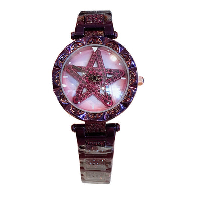 Watches,Explosive models to run the watch female fashion personality diamond-encrusted steel waterproof starry ladies watch,guiro,Zeinab Fashion.