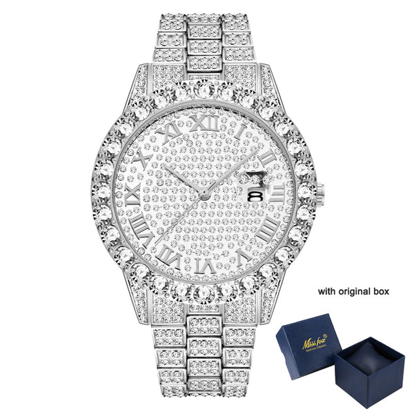 Waterproof Luxury Full Diamond Men's Watch