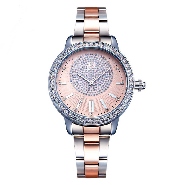 Shengke Rose Gold Watch