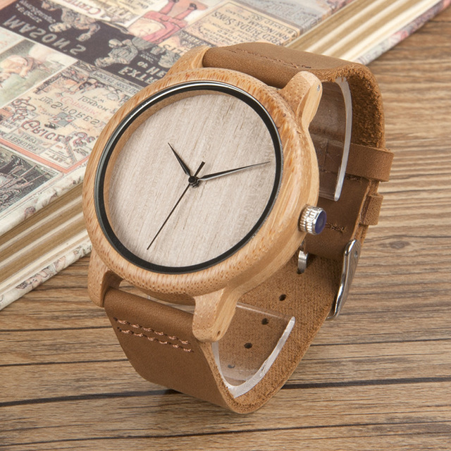 Watches,Men Watch Bamboo Wooden,guiro,Zeinab Fashion.