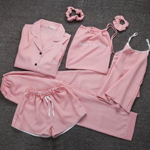 Load image into Gallery viewer, Clothing,Summer seven-piece suit sexy suspenders ice silk pajamas,guiro,Zeinab Fashion.
