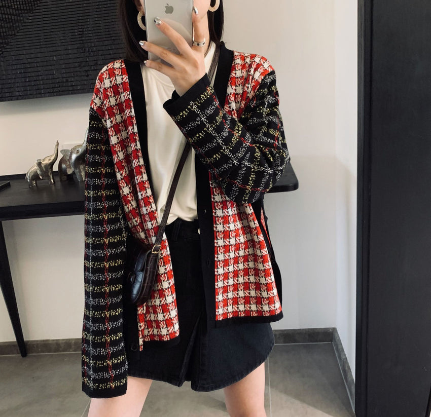 T3765 Knitwear Women's Split Jacket