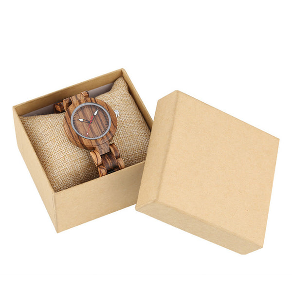 Wooden ladies watch