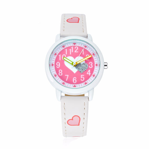 Cartoon love dial casual fashion children's watch