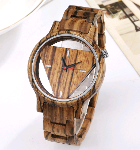 New wooden table creative hollow fashion wood watch