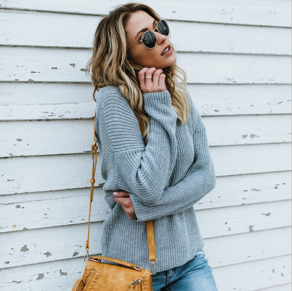 Plain knit sweater
