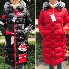 Load image into Gallery viewer, ,Both Two Sides Can Be Wore 2020 Winter Jacket Women Hooded With Fur Collar Female Long Parka Korean Style  Padded Puffer Coat,guiro,FreeDropship.
