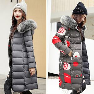 ,Both Two Sides Can Be Wore 2020 Winter Jacket Women Hooded With Fur Collar Female Long Parka Korean Style  Padded Puffer Coat,guiro,FreeDropship.