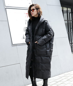 ,[EAM] 2020 New Winter Hooded Long Sleeve Solid Color Black Cotton-padded Warm Loose Big Size Jacket Women parkas Fashion JD12101,guiro,FreeDropship.