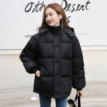 Load image into Gallery viewer, ,Fashion Short Winter Jacket Women Casual Warm Solid Hooded Parka Coat Office Lady 2020 New,guiro,FreeDropship.