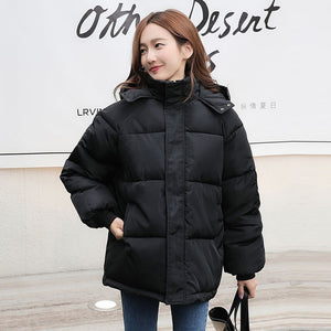 ,Fashion Short Winter Jacket Women Casual Warm Solid Hooded Parka Coat Office Lady 2020 New,guiro,FreeDropship.