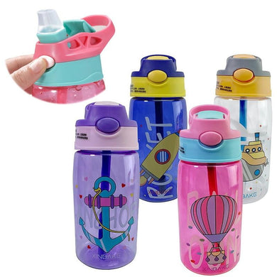 200002054,Kids Water Sippy Cup Creative Cartoon Baby Feeding Cups with Straws Leakproof Water Bottles Outdoor Portable Children's Cups,guiro,Cosmiz.