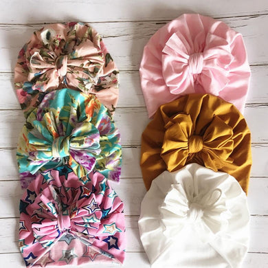 200003831,Fashion Cute Baby Hat Toddler Kids Soft Cotton Turban Beanies Hat Boy Girl Floral Bowknot Head Wraps For 0-3 Years Kids,guiro,Cosmiz.