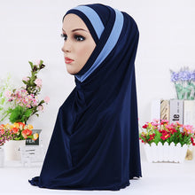 Load image into Gallery viewer, 200003922,H109 latest two pieces muslim amira hijab plain pull on islamic scarf head wrap headband underscarf hats,guiro,Zeinab Fashion.