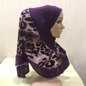 200003922,H109 high quality medium size 70*60cm muslim amira hijab with prints pull on islamic scarf head wrap pray scarves,guiro,Zeinab Fashion.