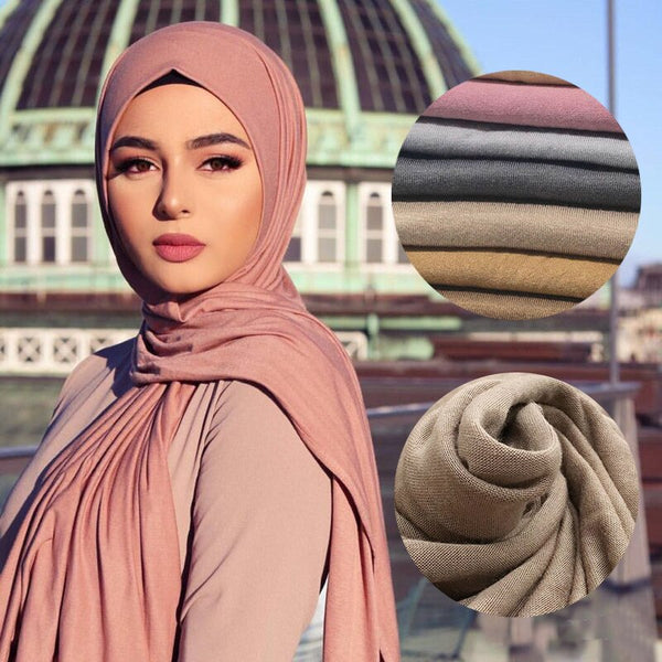 Multicolor Soft Cotton Muslim Headscarf Instant Hijab Jersey Scarf Hijabs Islamic Shawls And Wraps Head Scarves