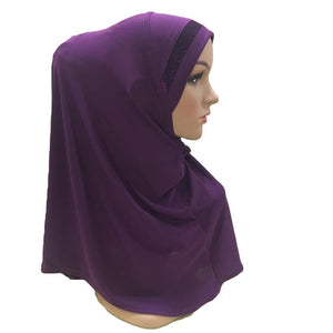 200003922,Plain Scarf Women Muslim One Piece Amira Hijab Islamic Hijabs Head Cover Wrap Shawl Turban Niqab Soft Headscarf Arab Khimar New,guiro,Zeinab Fashion.