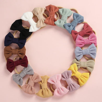 200003831,Baby Headband Bow Headbands For Girl Corduroy Head Band Thin Nylon Hairband Newborn Kids Toddler Hair Accessories Spring Summer,guiro,Cosmiz.