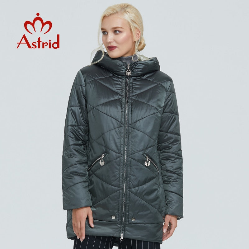 200001908,2019 Astrid winter jacket women Contrast color Waterproof fabric with cap design thick cotton clothing warm women parka AM-2090,guiro,Cosmiz.