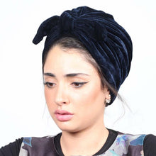 Load image into Gallery viewer, 200003922,Fashion bow velvet women head scarf turban ready to wear inner hijabs femme musulman hijab caps India wrap turbante mujer,guiro,Zeinab Fashion.