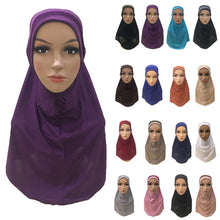 Load image into Gallery viewer, 200003922,Plain Scarf Women Muslim One Piece Amira Hijab Islamic Hijabs Head Cover Wrap Shawl Turban Niqab Soft Headscarf Arab Khimar New,guiro,Zeinab Fashion.
