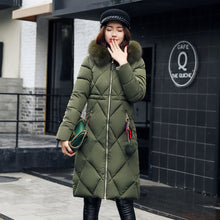 Load image into Gallery viewer, ,Long Hooded Padded Down Coat Coat Women,guiro,Unbranded.