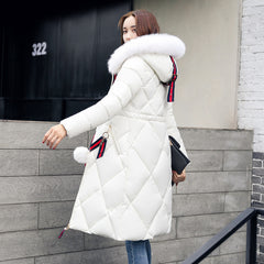 Long Hooded Padded Down Coat Coat Women