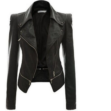 Genuine Womens Biker Motorcycle Vintage Cafe Racer Distressed Black Real Leather Jacket