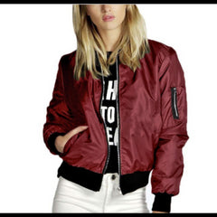 Solid Color Short Style Vertical Collar Leisure Zipper Jacket Jacket Jacket Jacket Jacket