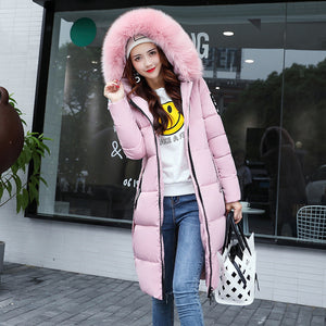 ,The New Cotton Padded Winter Long Big Girls Slim Korean Fur Collar Size Feather Padded Female Thickening,guiro,Unbranded.