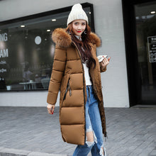 Load image into Gallery viewer, ,The New Cotton Padded Winter Long Big Girls Slim Korean Fur Collar Size Feather Padded Female Thickening,guiro,Unbranded.