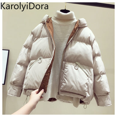 ,Winter Jacket Women Fashion Cotton Cotton-padded Jacket More Big Yards Hooded Warm coat,guiro,FreeDropship.