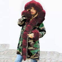 Load image into Gallery viewer, ,Winter Warm New Parker Fashion Furry Fur Collar Winter Jacket Women Medium Long Hooded Parka Coat with Hooded Plus Size Coat,guiro,FreeDropship.