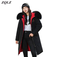 Load image into Gallery viewer, ,ZQLZ Winter Jacket Women 2020 Plus Size Hooded Fur Collar Black Long Parka Mujer Casual Loose Warm Thick Down Cotton Coat Female,guiro,FreeDropship.