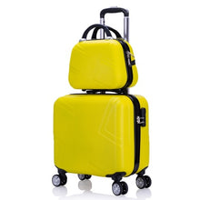 "Load image into Gallery viewer, ,Travel suitcase set Rolling Luggage set Spinner trolley case 18"" boarding wheel Woman Cosmetic case carry-on luggage travel bags,guiro,Zeinab Fashion."