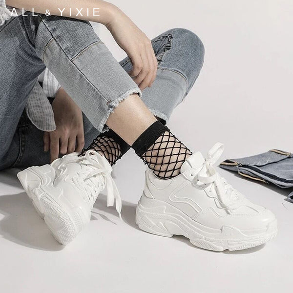 - ALL YIXIE 2019 New Summer White Mesh Women Sneakers Fashion Thick Bottom Womens Platform Sneakers Casual Shoes Zapatos De Mujer - guiro - Zeinab Fashion