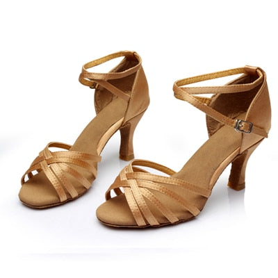 - WUUQAO Brand New Women's Dance Shoes Heeled Tango Ballroom Latin Salsa Dancing Shoes For Women Hot Sales - guiro - Zeinab Fashion