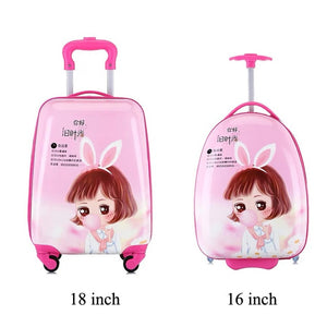,Kids Suitcase Children Travel Trolley Suitcase wheeled suitcase for kids Rolling luggage suitcase Child Travel Luggage bags case,guiro,Zeinab Fashion.