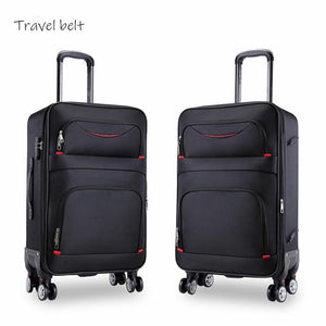 - high quality waterproof Oxford Rolling Luggage Spinner men Business Brand Suitcase Wheels 20 inch Cabin Trolley High capacity - guiro - Zeinab Fashion