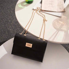 Load image into Gallery viewer,  - British Fashion Simple Small Square Bag Women's Designer Handbag 2019 High-quality PU Leather Chain Mobile Phone Shoulder bags - guiro - Guiro