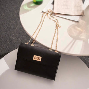 - British Fashion Simple Small Square Bag Women's Designer Handbag 2019 High-quality PU Leather Chain Mobile Phone Shoulder bags - guiro - Guiro