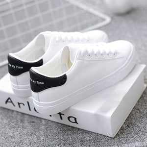 ,2019 Fashion White Sneakers Women Flats Canvas Shoes Women Vulcanize Shoes Summer Casual Zapatillas Mujer European Size 36-42,guiro,Zeinab Fashion.