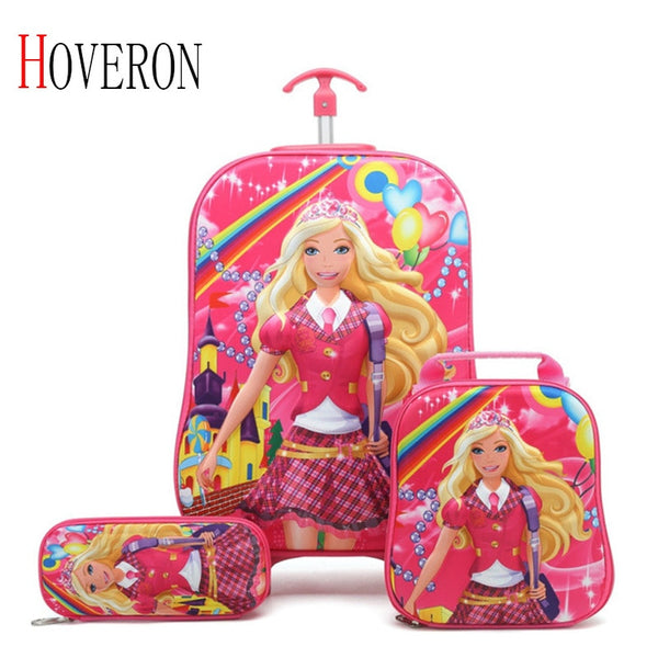 - HOVERON 2019 Cartoon Kids Travel Trolley Bags Suitcase For Kids Children Luggage Suitcase Rolling Case Travel Bag On Wheels - guiro - Zeinab Fashion