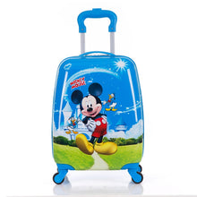 "Load image into Gallery viewer,  - Children's Suitcase Child Trolley case Luggage kids Schoolbags 18"" travel Suitcase Wheels 3D Cartoon Travel case kid's Toys box - guiro - Zeinab Fashion"