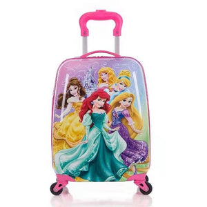 "- Children's Suitcase Child Trolley case Luggage kids Schoolbags 18"" travel Suitcase Wheels 3D Cartoon Travel case kid's Toys box - guiro - Zeinab Fashion"