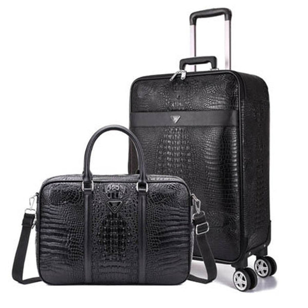 - Luxury Travel Suitcase Set Rolling Spinner Luggage Women Trolley Case Wheels Man boarding Box Carry-On Travel Bag Laptop Handbag - guiro - Zeinab Fashion